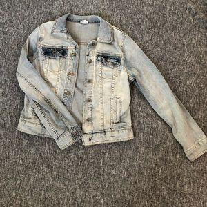 merona distressed women's denim jacket